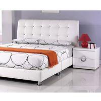 【AT HOME】雪莉5尺白皮雙人床3件組(床頭片/床底/床墊)
