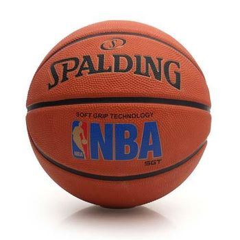 【SPALDING】SGT 深溝柔軟膠 斯伯丁籃球-NBA 戶外 運動 橘