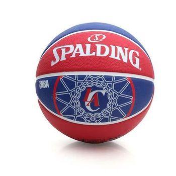 【SPALDING】快艇 CLIPPERS 斯伯丁籃球-戶外 運動 藍紅白
