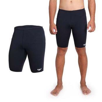 【SPEEDO】ENDURANCE 男運動及膝泳褲-游泳 四角泳褲 平口泳褲 丈青