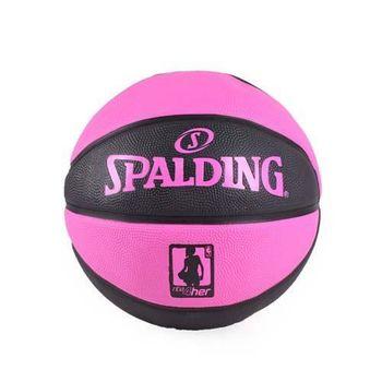 【SPALDING】NBA 4HER籃球-斯伯丁 運動 休閒 黑粉