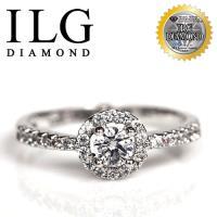 【頂級美國ILG鑽飾】八心八箭仿真鑽石戒指 優雅巴黎款 主鑽20分 RI065 女孩們最愛的人氣商品(白K金色)