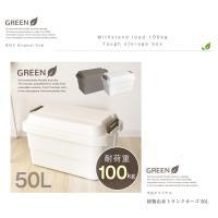 日本 RISU TRUNK CARGO 多功能環保耐重收納箱 50L - 共兩色