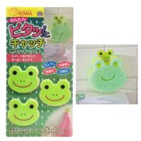 日本製造 創和青蛙魔鬼氈壁貼掛勾(3入/組)