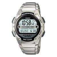 【CASIO】 10年電力先鋒不鏽鋼錶-黑面 (W-756D-1A)