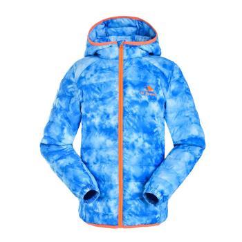 【聖伯納 St.Bonalt】男中童-連帽羽絨外套 (88099)-藍色迷彩