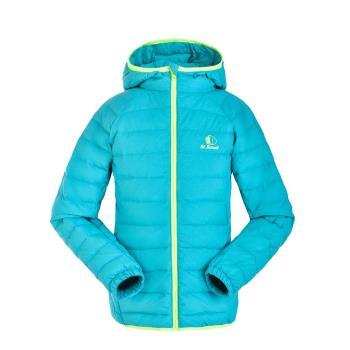 【聖伯納 St.Bonalt】女中童-連帽羽絨外套(88100)-天空藍 / 亮玫紅 / 糖果粉 / 豔紫 / 藍綠