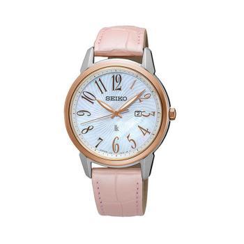 【SEIKO 精工】LUKIA 美好愛戀太陽能皮帶女用腕錶-32mm  V137-0CG0K(SUT300J1)