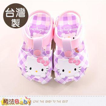 魔法Baby 女童涼鞋 台灣製Hello kitty 正版女童鞋~sk0041