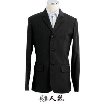 【男人幫】C5310*韓版修身顯瘦【立體剪裁窄版條紋三釦西裝外套】獨特韓版紳士雅痞款
