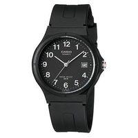 【CASIO】 超輕薄感時尚指針錶-白數字黑面 (MW-59-1B)