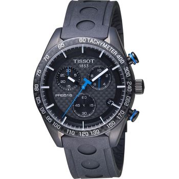 TISSOT PRS 516 賽車元素計時腕錶 T1004173720100 黑42mm