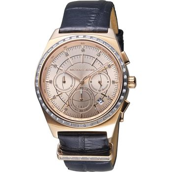 Michael Kors 華麗晶鑽三眼計時腕錶 MK2616 (39mm)
