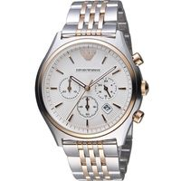 EMPORIO ARMANI Classic 復刻風時尚計時腕錶 AR1998 雙色