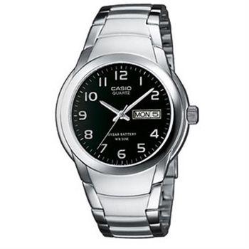 【CASIO】 世界富豪指針紳士錶-數字黑面 (MTP-1229D-1A)