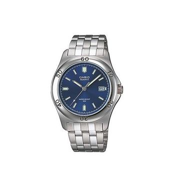 【CASIO】 世界城市新風範指針錶-藍 (MTP-1213A-2A)