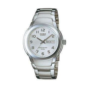 【CASIO】 世界富豪指針紳士錶-數字白面 (MTP-1229D-7A)