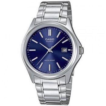 【CASIO】 城市時尚雅緻紳士腕錶-藍 (MTP-1183A-2A)
