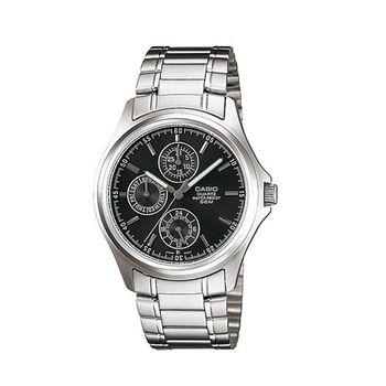 【CASIO】 完美世代三眼指針錶-黑面 (MTP-1246D-1A)