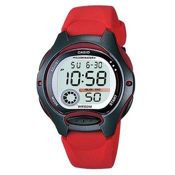 【CASIO】 超時空玩家電子錶-紅 (LW-200-4A)