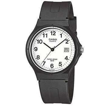 【CASIO】 超輕薄感時尚指針錶-數字白面 (MW-59-7B)