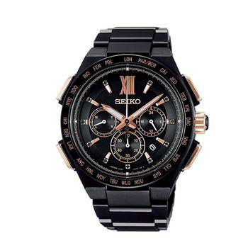 SEIKO 精工 Brightz 鈦金屬 玫瑰金電波限量腕錶-43mm 8B92-0AH0SD(SAGA214J)