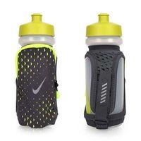 【NIKE】輕量跑步手拿水壺20OZ-單車 自行車 慢跑 路跑 運動 訓練 螢光黃灰