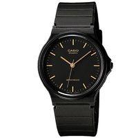【CASIO】 超輕薄感數字錶-金羅馬黑面 (MQ-24-1E)