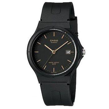 【CASIO】 超輕薄感時尚指針錶-黑底羅馬金字 (MW-59-1E)