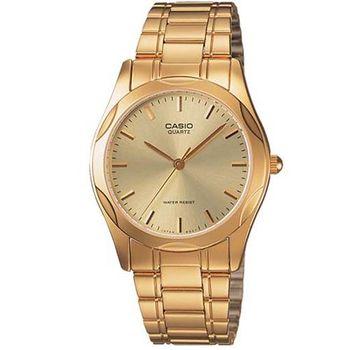 【CASIO】 時尚輝煌指針紳士錶-羅馬金面 (MTP-1275G-9A)