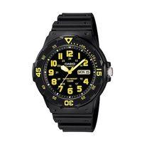 【CASIO】 潛水風DIVER LOOK指針錶-黑面黃刻度 (MRW-200H-9B)