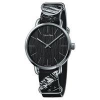 Calvin Klein CK Even 超然酷黑時尚腕錶-42mm K7B211L1