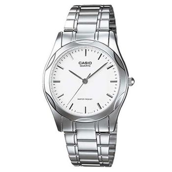 【CASIO】 時尚輝煌指針紳士錶-羅馬白面 (MTP-1275D-7A)