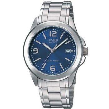 【CASIO】時尚都會新風格指針錶-藍面 (MTP-1215A-2A)