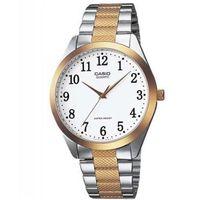 【CASIO】 富豪金銀時尚指針紳士腕錶-數字白面x金邊 (MTP-1274SG-7B)