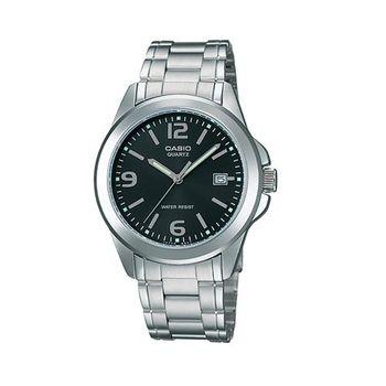 【CASIO】 時尚都會新風格指針錶-黑面 (MTP-1215A-1A)