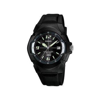 【CASIO】 新版超時玩家十年電量指針錶-黑 (MW-600F-1A)