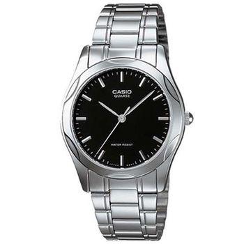 【CASIO】 時尚輝煌指針紳士錶-羅馬黑面 (MTP-1275D-1A)
