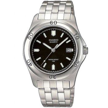 【CASIO】 世界城市新風範指針錶-黑面 (MTP-1213A-1A)