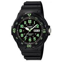 【CASIO】 潛水風DIVER LOOK指針錶-黑面綠刻度 (MRW-200H-3B)