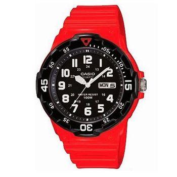【CASIO】 潛水風DIVER LOOK指針錶-紅 (MRW-200HC-4B)