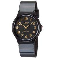 【CASIO】 超輕薄感指針錶-黑x金色數字 (MQ-24-1B2)