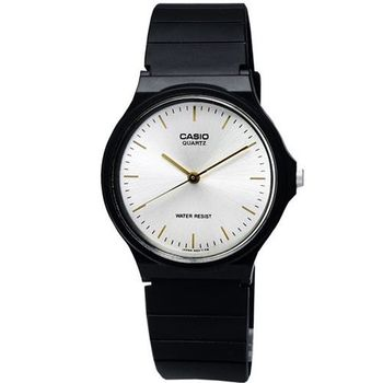 【CASIO】 超輕薄感數字錶-銀面白金字 (MQ-24-7E2)