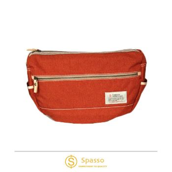 《Traveler Station》SPASSO 4-294 義大利Nume皮革帆布船型帆布包 橘 / 藍 / 灰 / 黑 四色可選