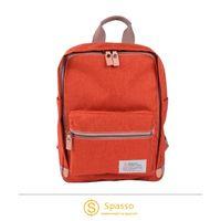 《Traveler Station》SPASSO 4-296 義大利Nume皮革帆布直式後背包 橘 / 藍 / 灰 / 黑 四色可選