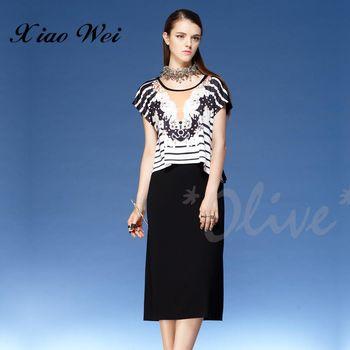 【CHENG DA】春夏專櫃精品女裝時尚流行短袖洋裝 NO.121435