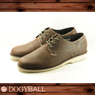 【Dogyball】Antony Vintage Leather 經典皮鞋款 咖啡色