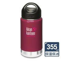 美國Klean Kanteen 寬口保溫鋼瓶355ml(野莓紅)