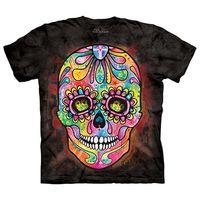 【摩達客】(預購)(大尺碼3XL)美國進口The Mountain 彩繪骷髏頭 純棉環保短袖T恤