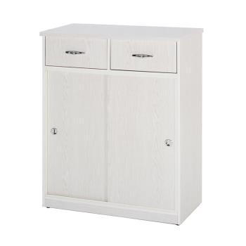 【顛覆設計】潮濕剋星-防水塑鋼雙抽推門鞋櫃-寬83深42高112cm(12色可選)